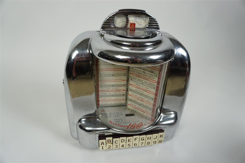 Fabulous 1950s Seeburg Wall-O-Matic 100 selection diner juke box coin-operated booth selector - Front 3/4 - 186206