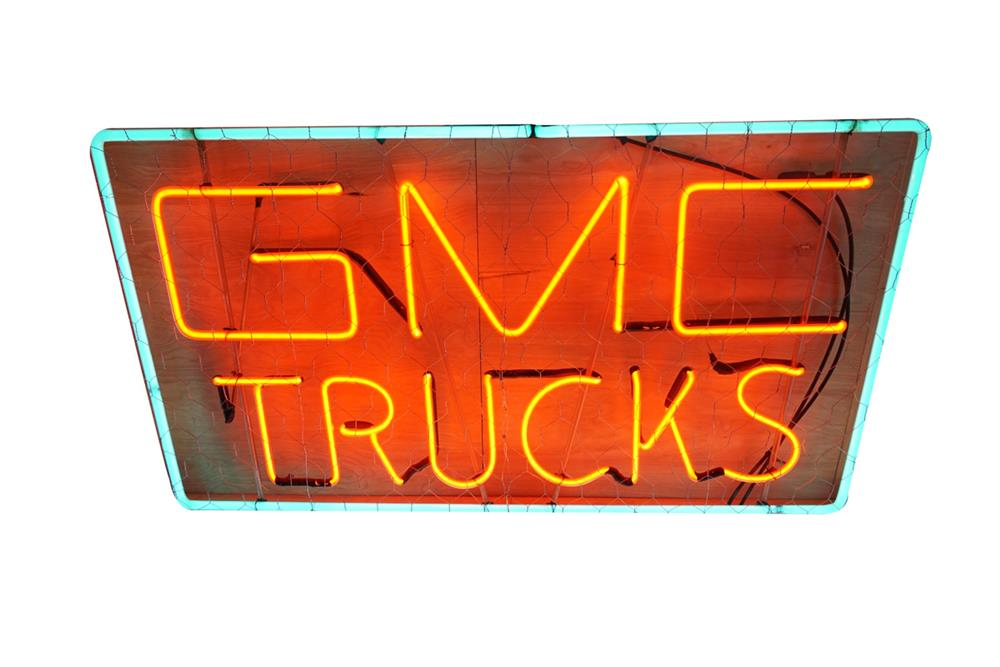 Fabulous all original 1950s GMC Trucks showroom sales window neon sign. - Front 3/4 - 186211