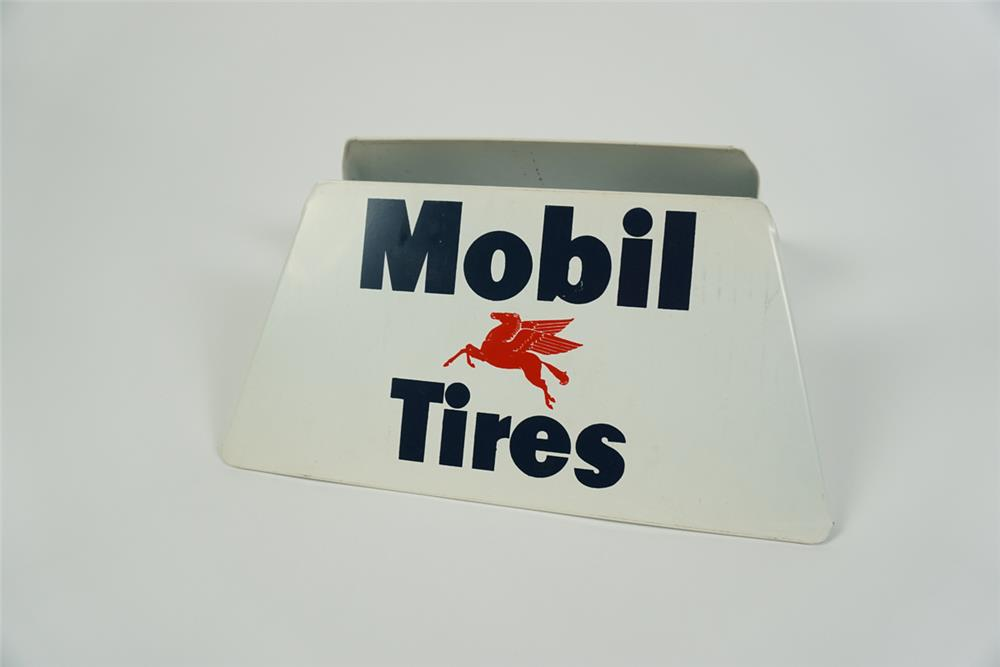 Circa 1950s Mobil Tires service station metal tire display with Pegasus logo - Front 3/4 - 186248