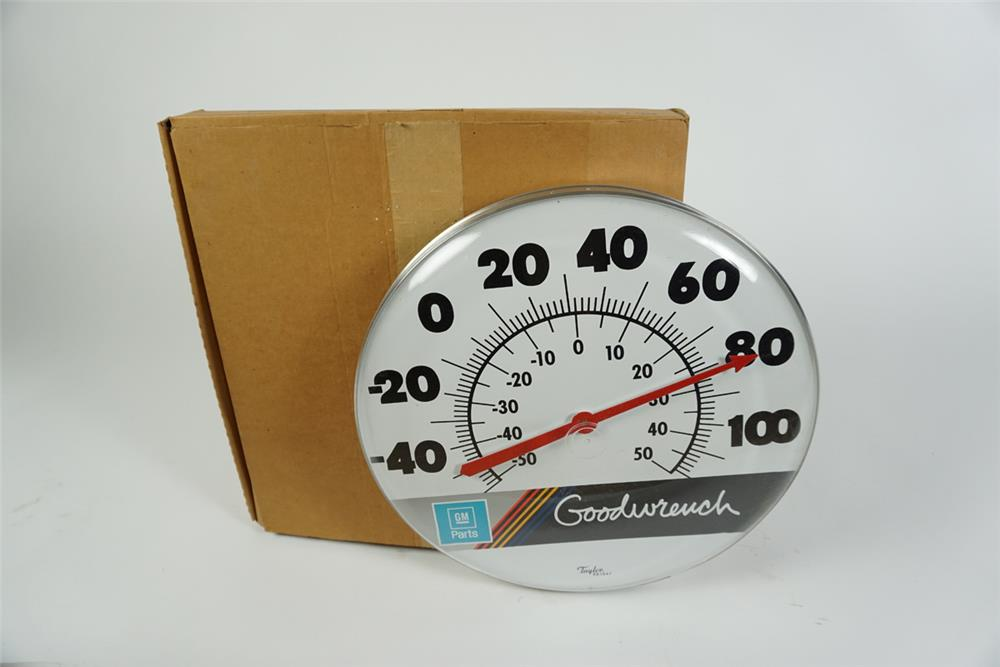 NOS Goodwrench-GM Parts service department thermometer still in the original box. - Front 3/4 - 186279