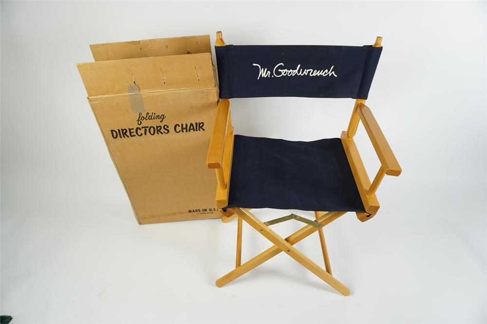 Lot of two vintage GM Mr. Goodwrench folding directors chairs still in the original boxes. - Front 3/4 - 186283