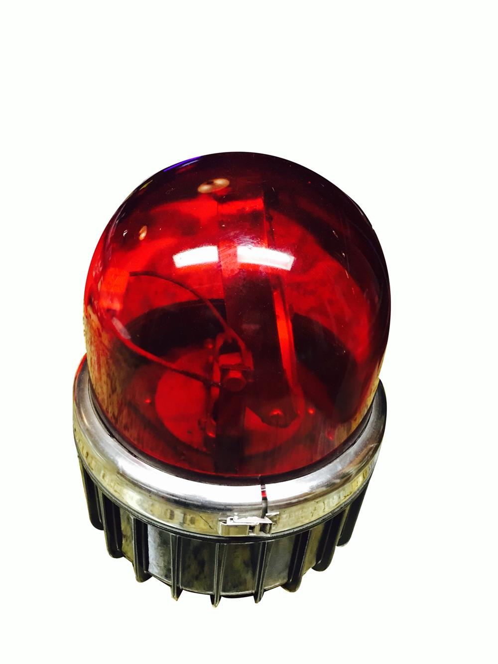 Rare nicely restored vintage Fire Department emergency vehicle mount Light. - Front 3/4 - 186321