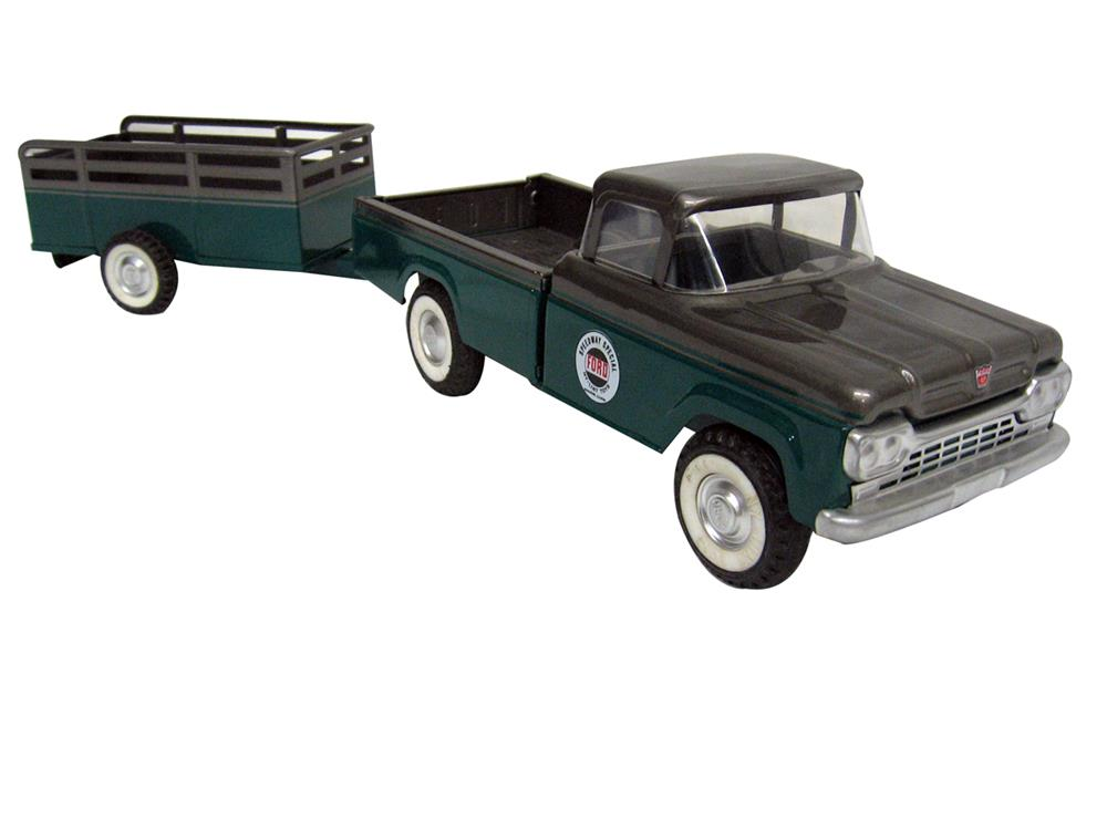 Gorgeous custom Nylint Speedway Special Ford pickup and matching trailer. - Front 3/4 - 186336