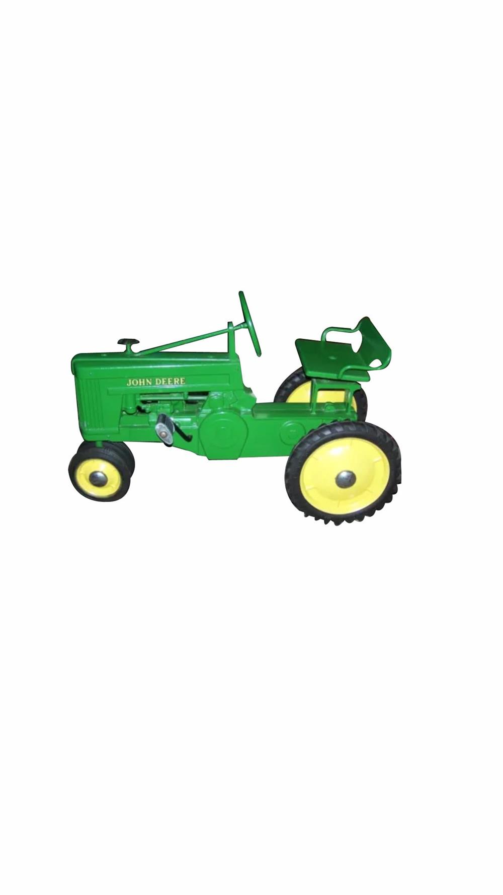 Phenomenal 1954 John Deere pedal tractor by Eska. Restored to perfection! - Front 3/4 - 186413
