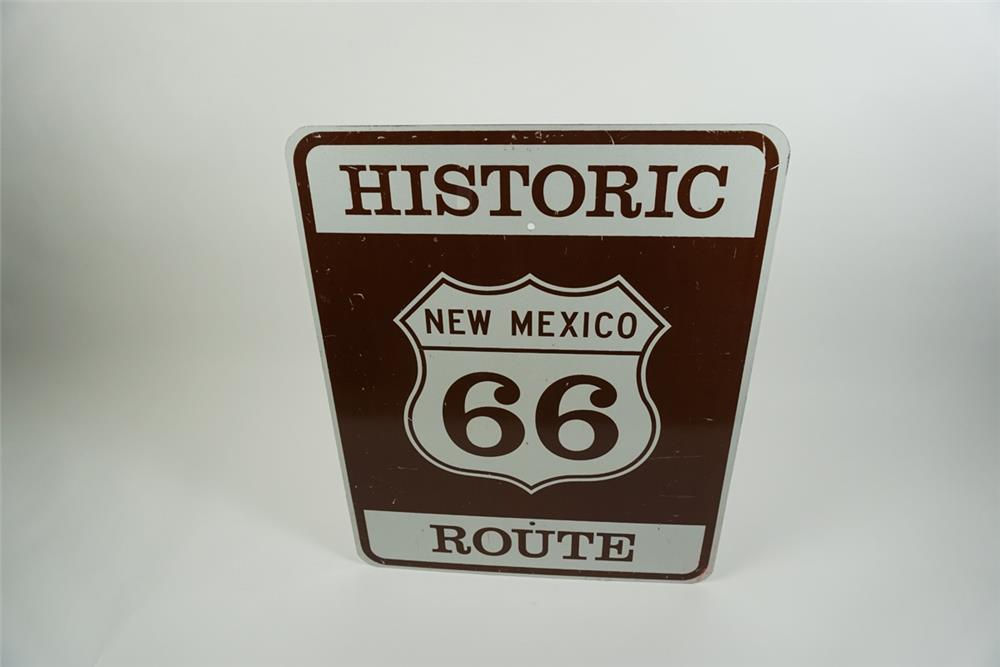 Wonderful New Mexico Historic Route 66 highway metal road sign. - Front 3/4 - 186423