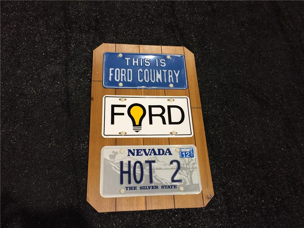 "Addendum Item - ""This is Ford Country"" license plate display board. - Front 3/4 - 186606"