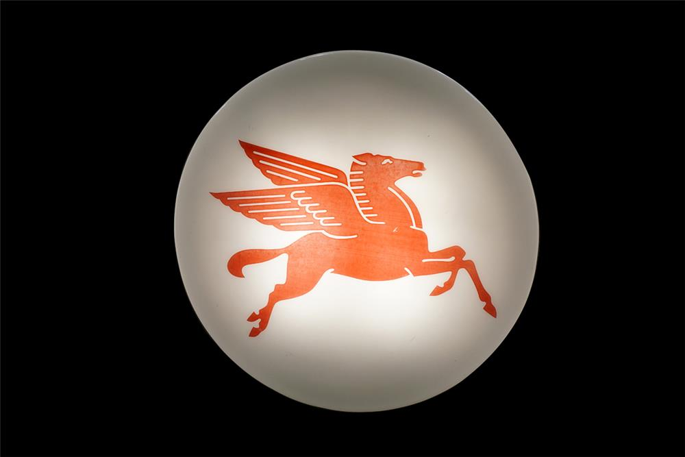 Sharp Large Mobil Oil single-sided light-up service station featuring the iconic Pegasus logo. - Front 3/4 - 187533