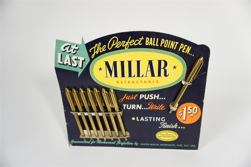 1950s Millar Ball Point Pen service station countertop display. - Front 3/4 - 187728
