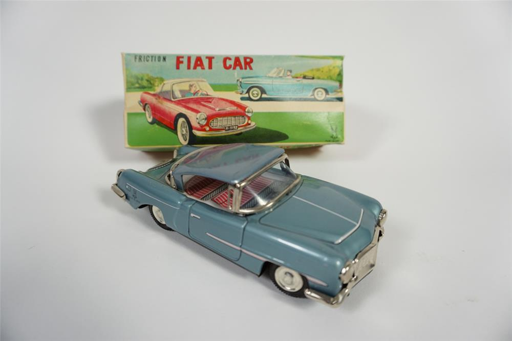 Circa late 1950s-early 60s Fiat friction drive tin litho toy car still in the original box. - Front 3/4 - 187762