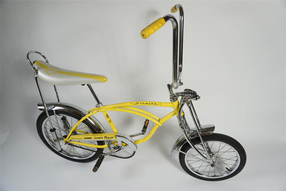 "All original Schwinn Sting-Ray Krate bike ""Lemon Peeler"". - Front 3/4 - 187792"