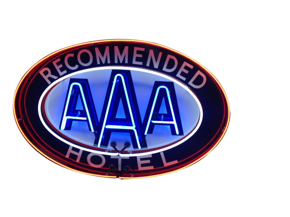 Very clean Triple A Recommended Hotel single-sided neon porcelain sign - Front 3/4 - 187852