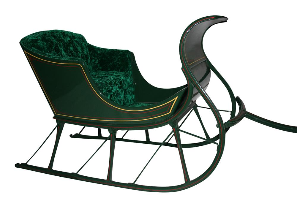 Beautiful early pull behind childs sleigh. - Front 3/4 - 187953