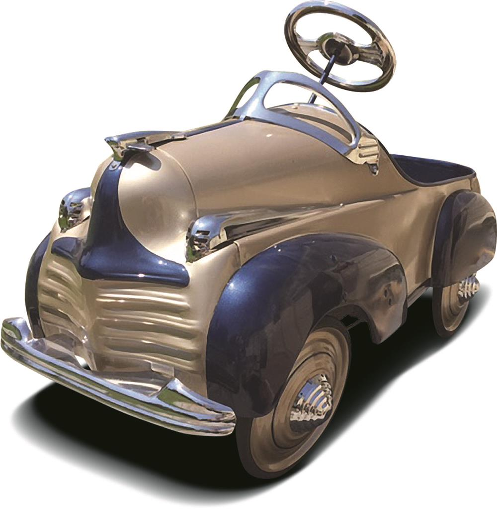 "Beautiful 1941 Steelcraft ""Chrysler"" pedal car professionally restored to day one grandeur. - Front 3/4 - 187961"
