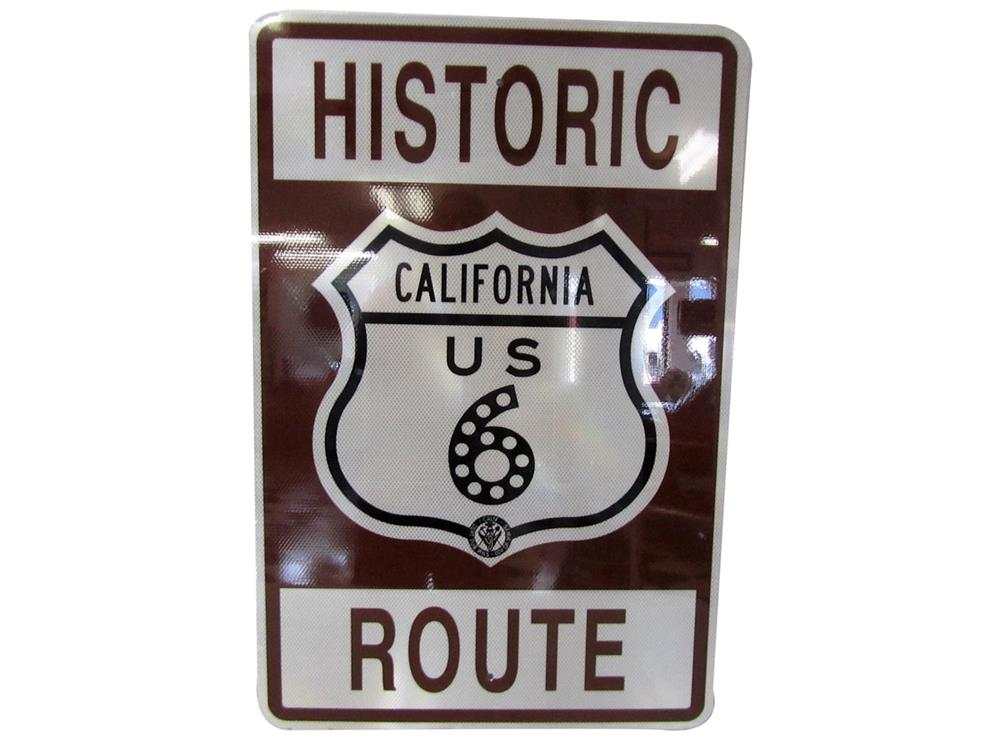 Seldom seen newer Historic California Route metal highway sign. - Front 3/4 - 188008