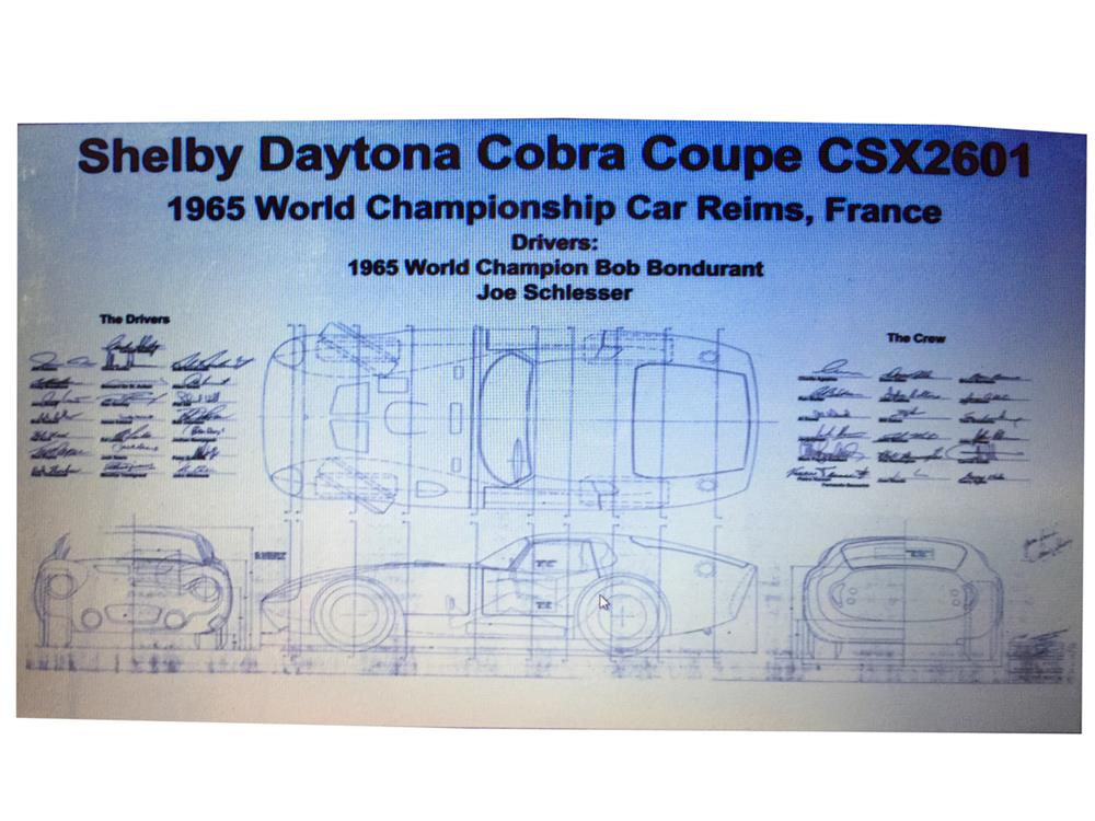 Shelby daytona 1965 world champion car poster signed by dri188019 shelby daytona 1965 world champion car poster signed by drivers and crew copy of malvernweather Choice Image