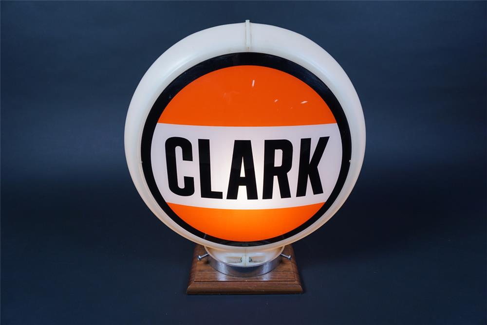 Unusual Clark Gasoline of Illinois gas pump globe in a Capcolite body. - Front 3/4 - 190677