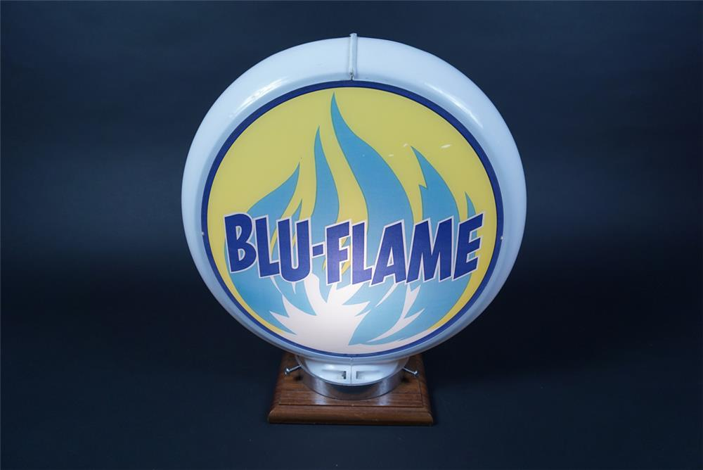 Highly Prize Blu-Flame Gasoline gas pump globe in a Capcolite body. - Front 3/4 - 190684