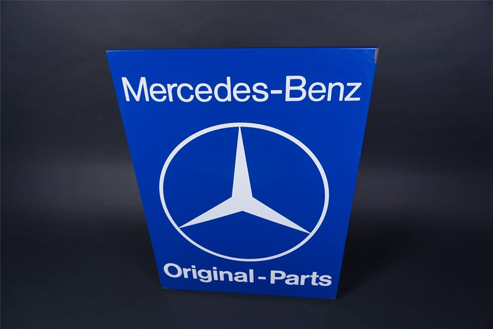 NOS 1960s Mercedes-Benz Original Parts single-sided porcelain dealership sign. - Front 3/4 - 190736