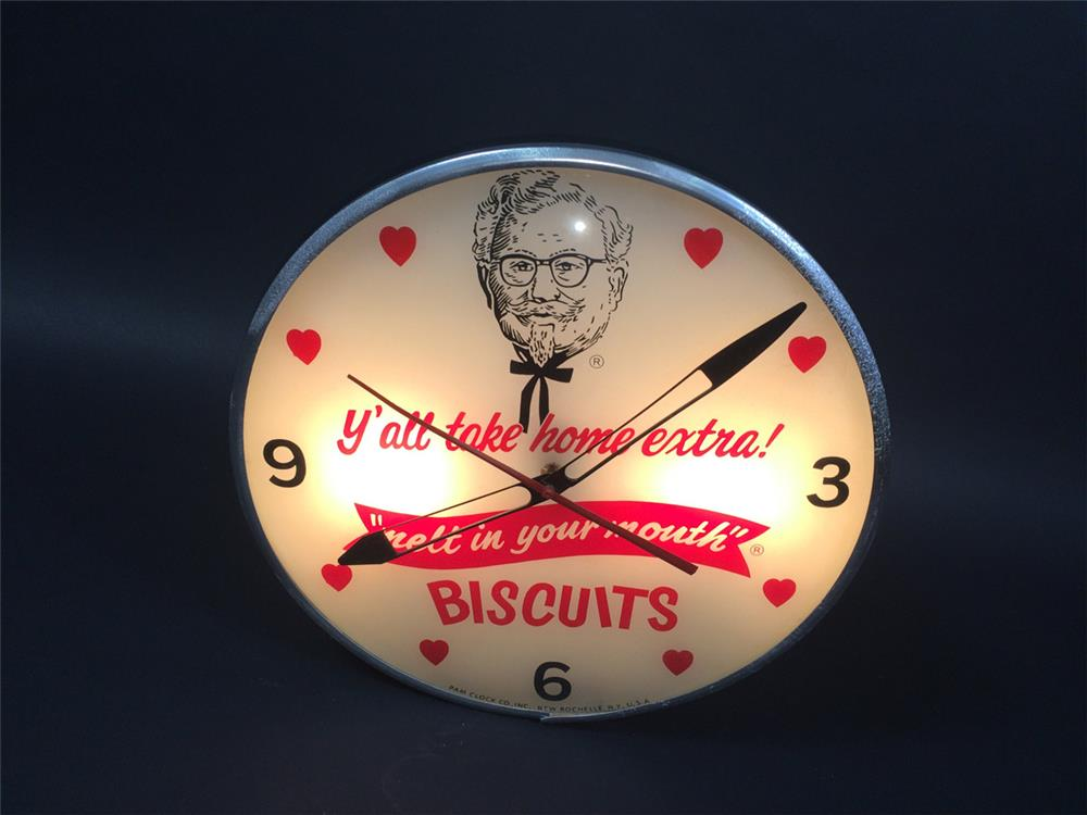 Phenomenal late 1950s-early 60s Kentucky Fried Chick light-up click with Colonel Sanders logo. - Front 3/4 - 190763