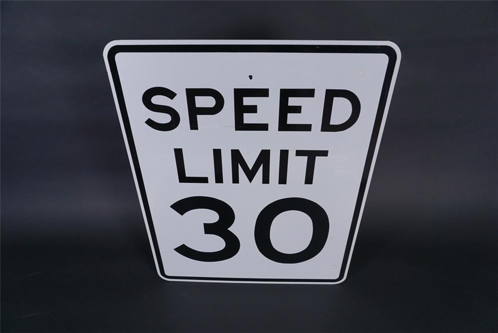NOS Speed Limit 30 metal highway road sign. - Front 3/4 - 190839