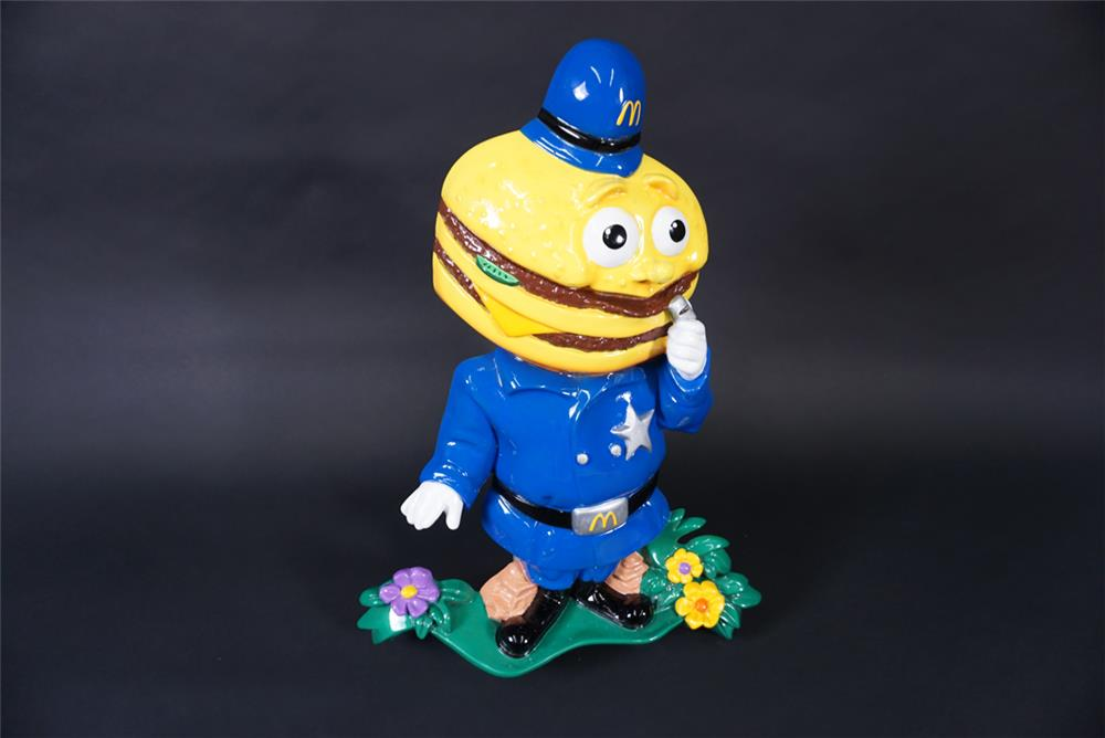 "Highly collectible McDonald's Restaurant restored ""Officer Big Mac"" three dimensional wall display. - Front 3/4 - 190896"