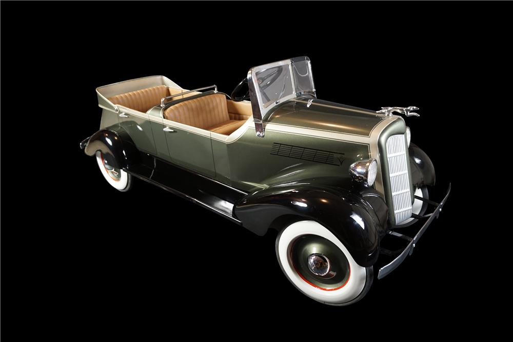 Exquisite 1935s Lincoln dual cowl phaeton pedal car by American National Skippy custom pedal car. - Front 3/4 - 190994