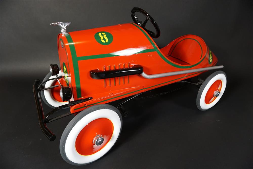Nifty 1928 American National boat tail Hi-Speed racer with extremely rare chain drive mechanism. - Front 3/4 - 190997