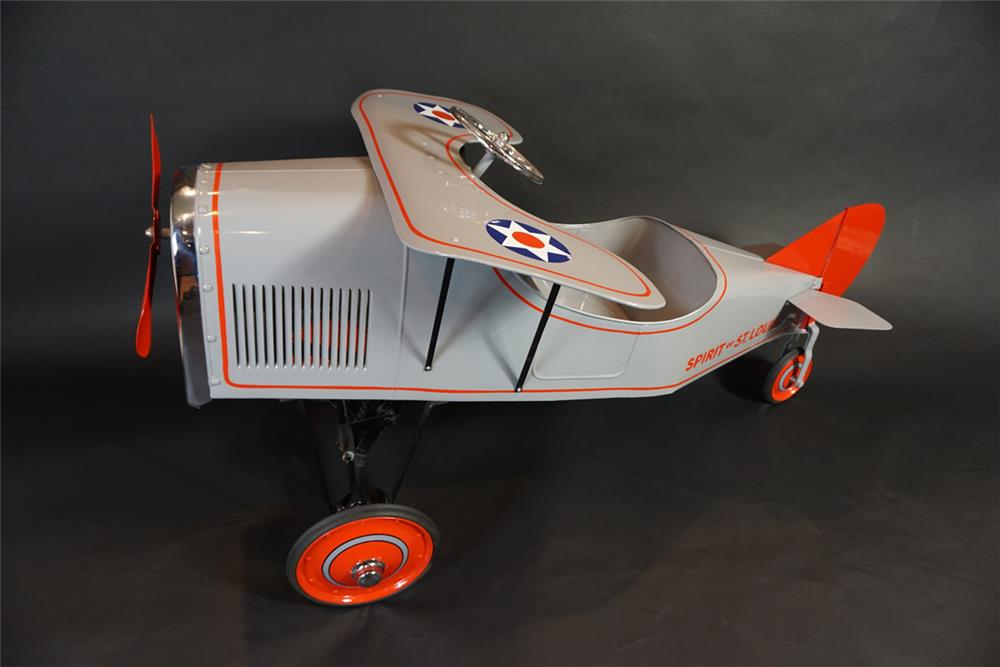 Highly desirable 1929 restored Steel Craft Spirit of St. Louis pedal airplane. - Front 3/4 - 191022
