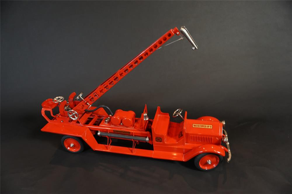 Immaculate 1920s restored Sturdy Toy LaFrance fire department ladder/pumper toy truck. - Front 3/4 - 191083