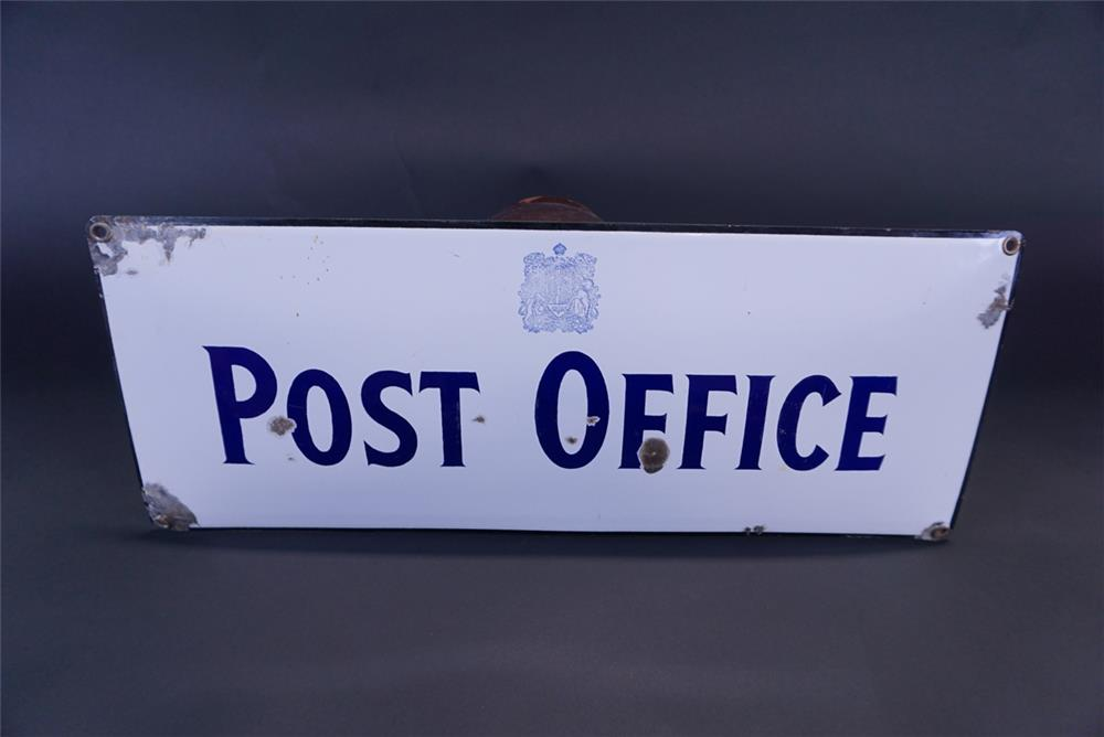 1930s Canadian Post Office single-sided porcelain sign. - Front 3/4 - 191334