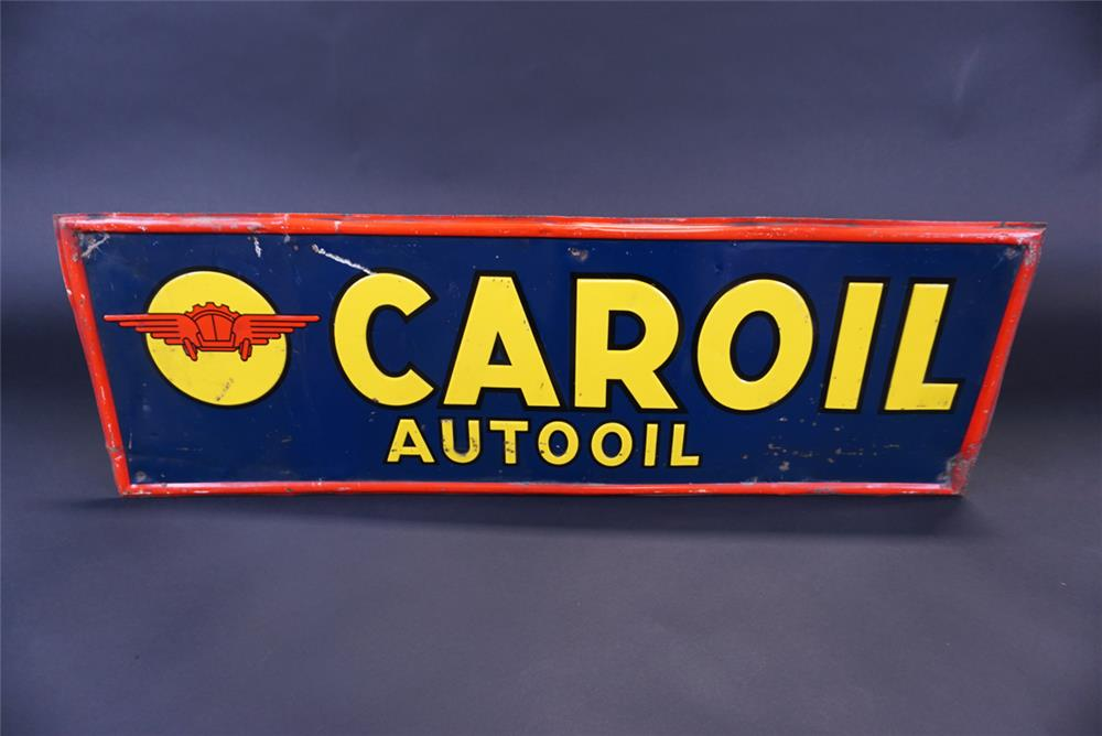 1930s Car Oil Motor Oil single-sided self-framed tin service station sign with graphics. - Front 3/4 - 191337