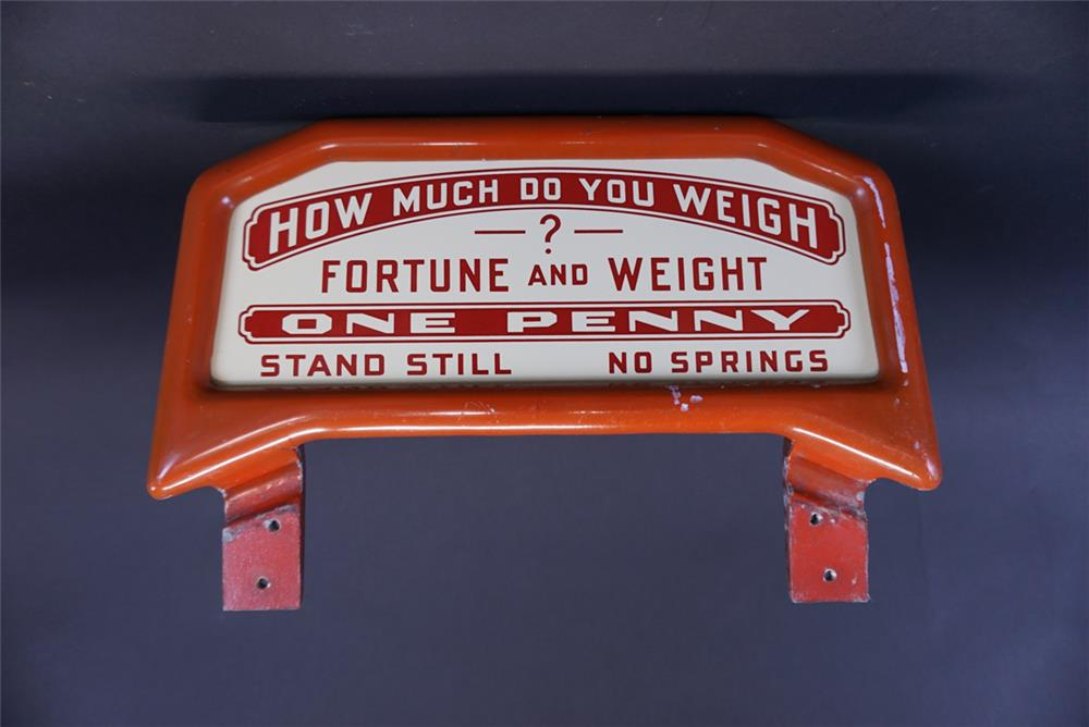 1930s Fortune Teller Coin-Op scale by Watling porcelain marquee sign. - Front 3/4 - 191376
