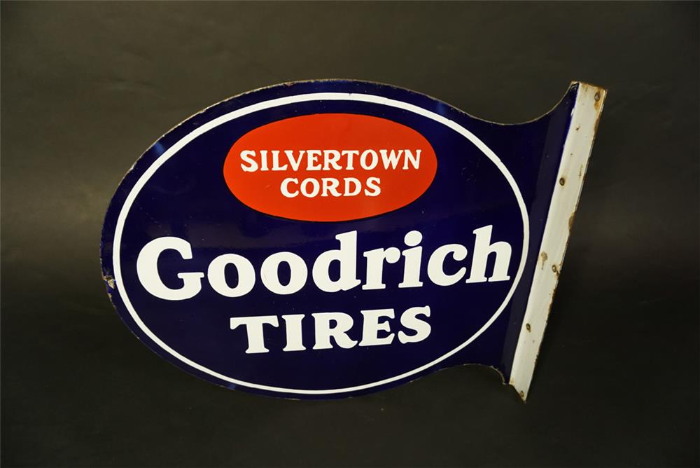 Phenomenal 1930s Goodrich Silvertown Tires double-sided porcelain