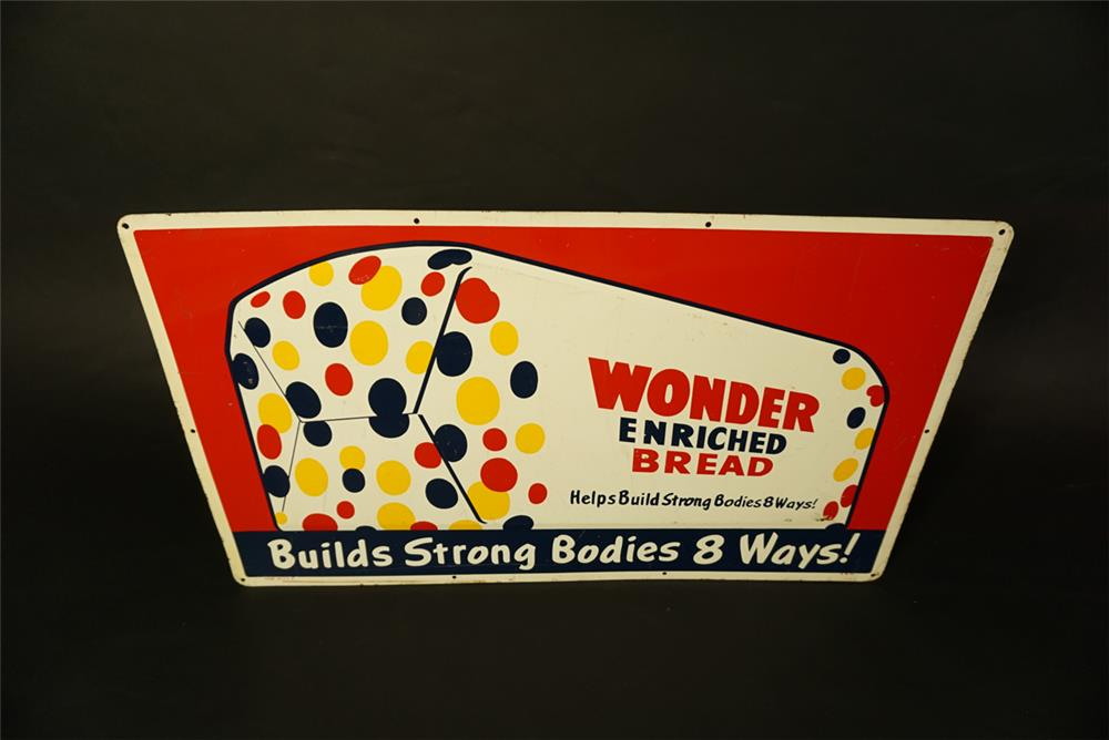 Circa late 1950's-early 60s Wonder Enriched Bread single-sided tin general
