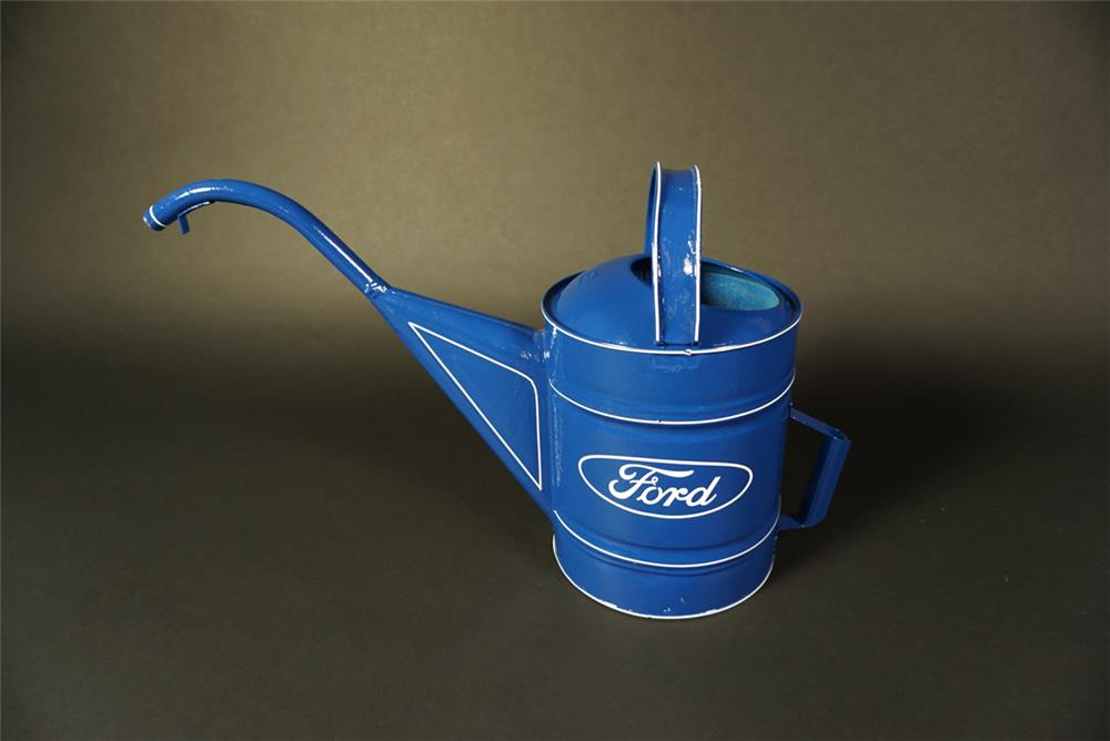 Circa 1940s restored Ford service department raditator service water can. - Front 3/4 - 191554