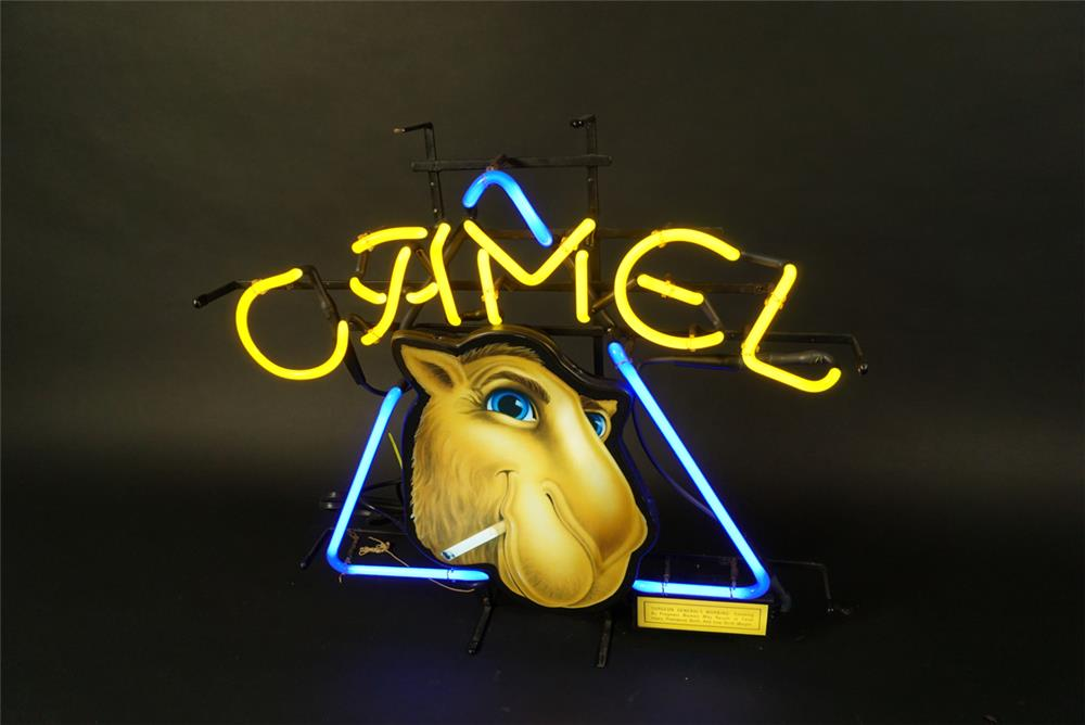 NOS Camel Cigarettes neon service station sign featuring Joe Camel. - Front 3/4 - 191595