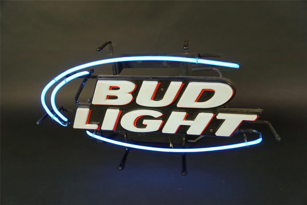 Choice Bud Light Beer neon tavern sign. Works great! - Front 3/4 - 191598