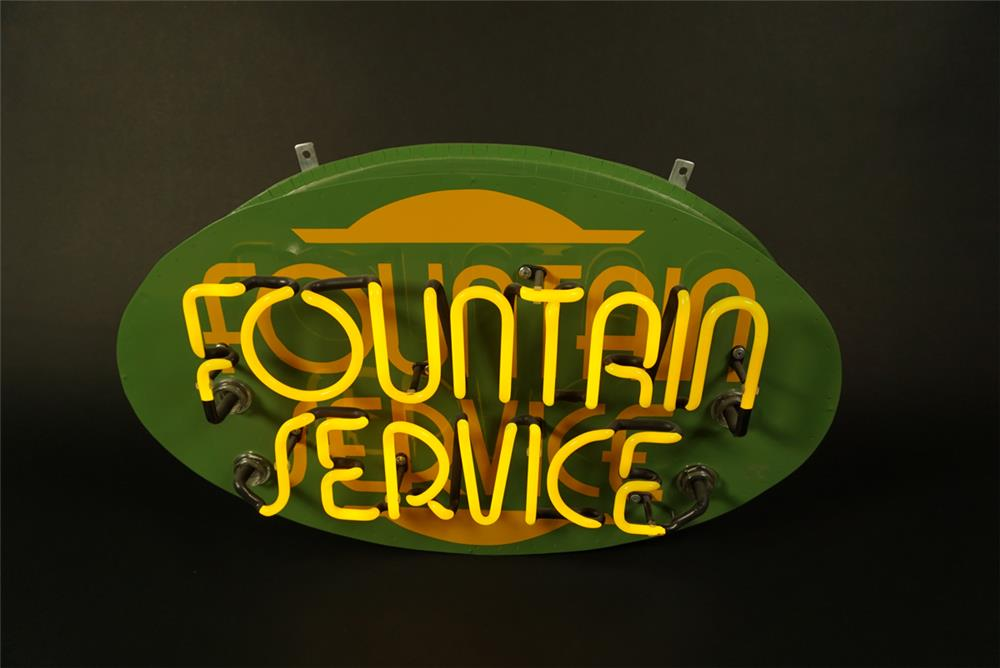 Custom made Fountain Service single-sided neon sign. - Front 3/4 - 191602