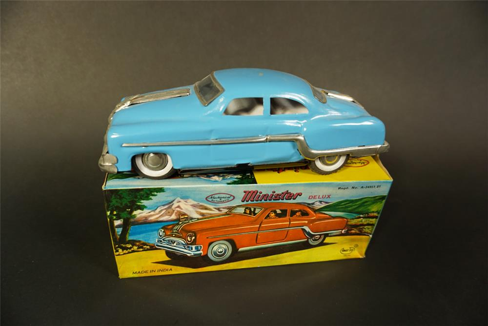 "Choice 1950s Minister Deluxe ""Buick"" tin litho toy still in the original box - Front 3/4 - 191644"