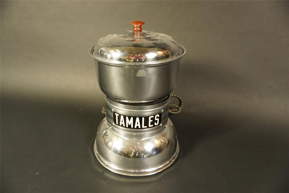 Nifty 1930s Tamales diner countertop dispenser appears to be complete. - Front 3/4 - 191648