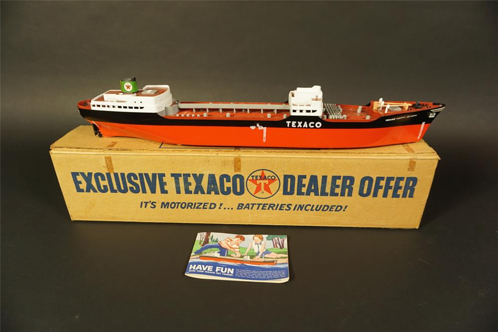 "NOS 1961 Texaco Oil service station promotional ""North Dakota"" oil tanker still in the original box. - Front 3/4 - 191755"