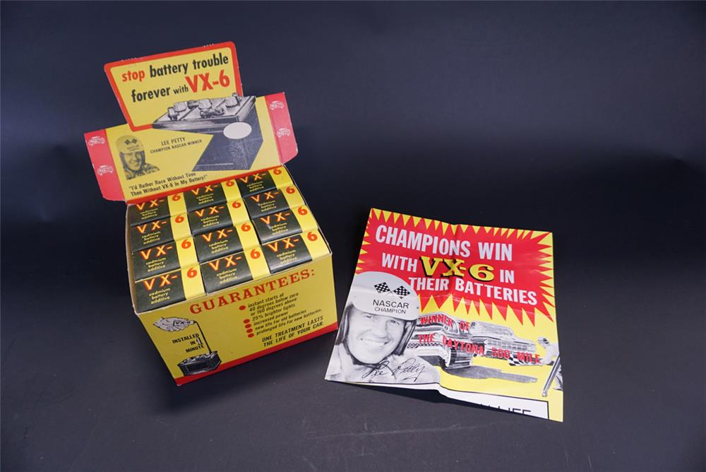 Choice NOS early 1960s VX-6 Battery Additive countertop display with poster - Front 3/4 - 191766