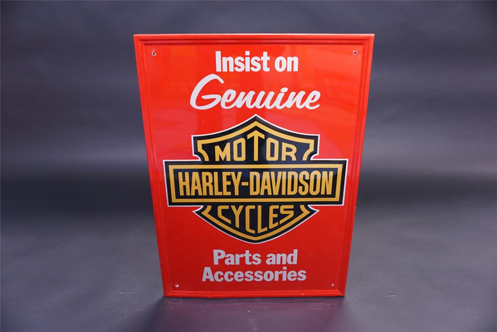 Newer Harley-Davidson Cycles Parts & Accessories single-sided tin sign. - Front 3/4 - 191848