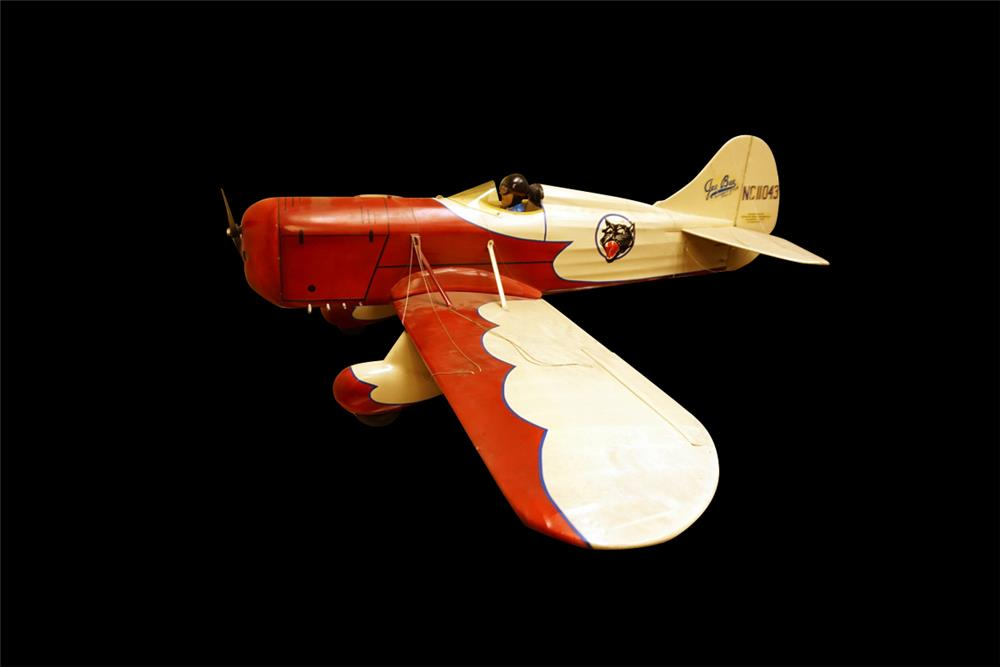 Nicely made vintage gas powered over-sized model tether airplane. - Front 3/4 - 192005