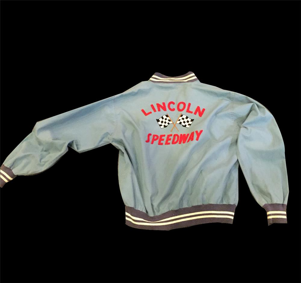 1950s Lincoln Speedway jacket found with stitched lettering. - Front 3/4 - 192044