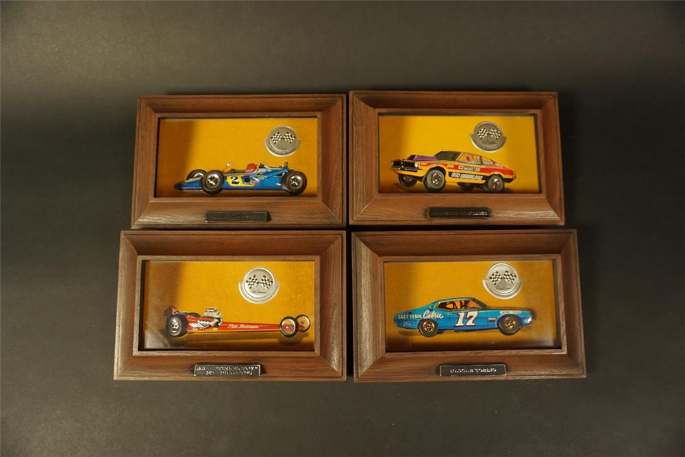 Complete set of four 1970s Ford Auto-Lite Racing Champion displays - Front 3/4 - 192155