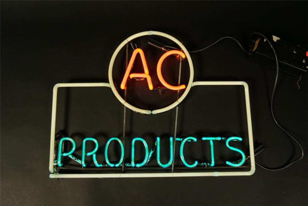 Museum quality 1940s all original AC Products automotive garage window neon sign - Front 3/4 - 192166
