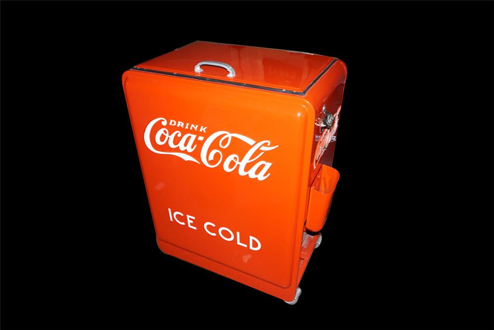 Stunning restored 1941 Coca-Cola service station/general store soda bottle ice cooler. - Front 3/4 - 192172