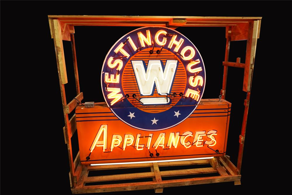 Appliances double-sided neon porcelain sign still in the original shipping crate. - Front 3/4 - 192243