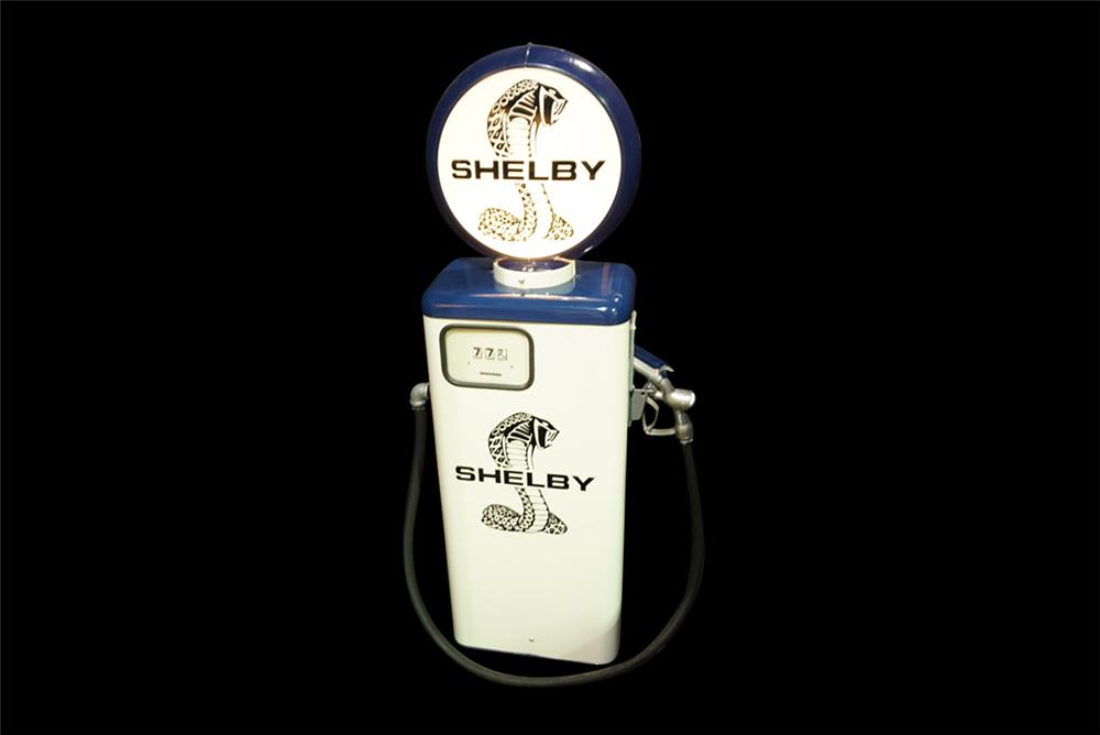 Late 1960s Gas-Boy gas pump restored in period Shelby regalia. - Front 3/4 - 192253